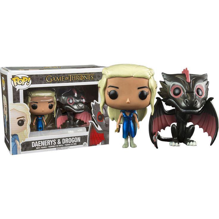 Game of Thrones POP! Vinyl Figuren Doppelpack Daenerys & Drogon 10 cm - Drache