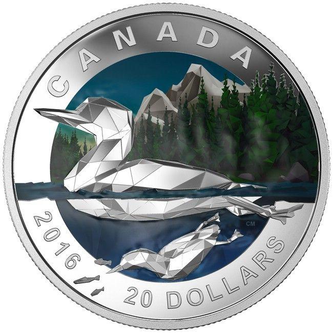 20 Dollar Silber Geometrie in der Kunst - Der Eistaucher PP