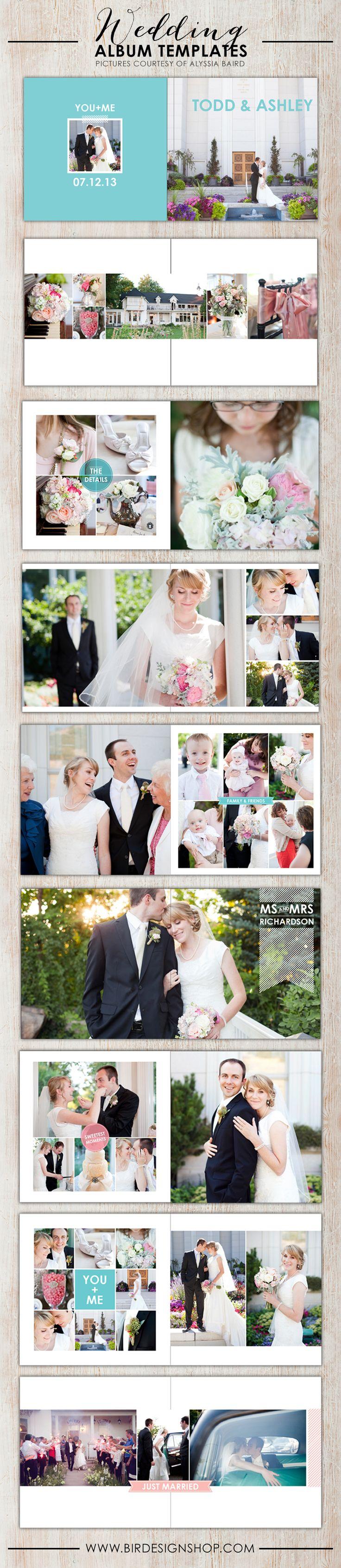 wedding photoshop album templates