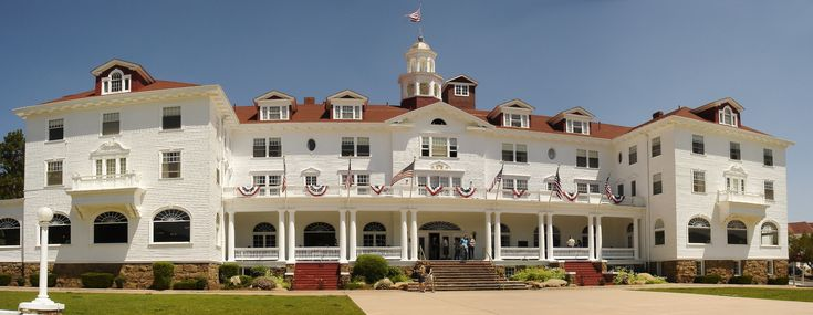 "THE STANLEY HOTEL, Estes Park, CO, is most famous for being the inspiration for the Overlook Hotel from Stephen King's novel, The Shining. It is said to be one of the ""most haunted houses in America"". We did not stay here, but toured the opulent lobby. (See my pin of a photo of the ghost of a child peering from one of the windows.)"