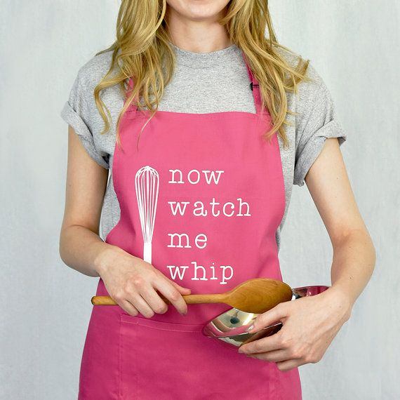 Watch Me Whip Apron Funny Apron Women's Apron by EllieEllieltd
