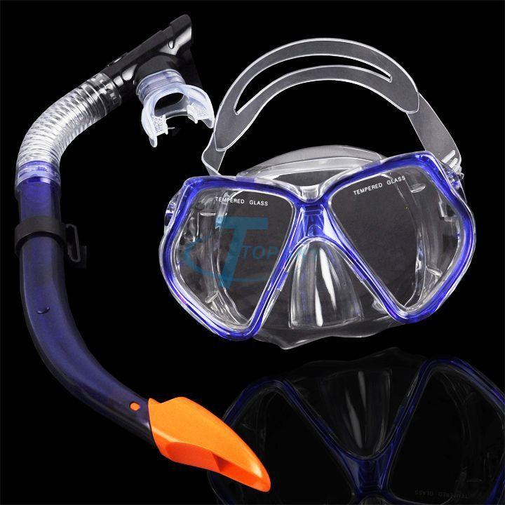Снаряжение Для подводного плавания Dive Mask + Сухой Трубка Набор Подводное плавание Передач Комплект Подводная Маска Дайвинг Очки Buceo Тушь 20