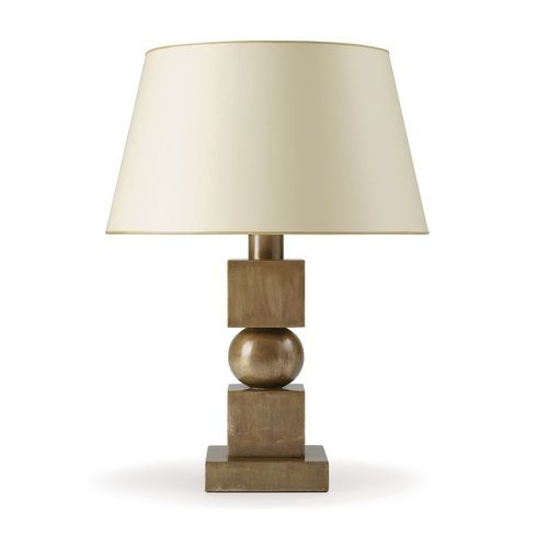 Wood cube and ball l& base. Wired for Edison bulb. Includes patterned paper shade and diffuser.  sc 1 st  Pinterest & 204 best Table Lamps images on Pinterest | Table lamps Light ...