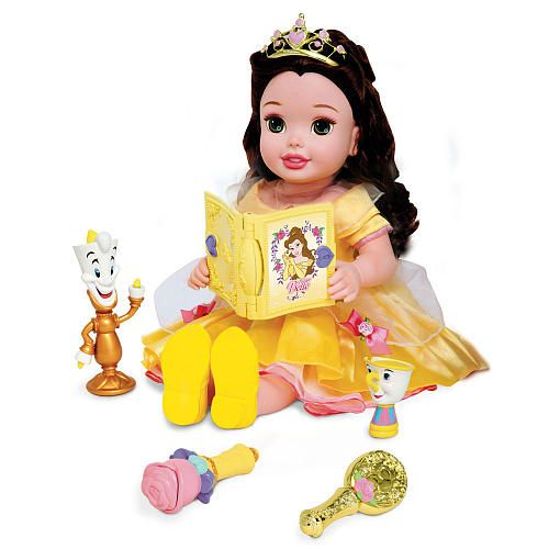 Just bought this for $20 at walmart on sale and am putting it away as a Christmas present, great deal everyone!  Sing, smile and laugh with beautiful young Princess Belle! This smart Disney Princess 20 inch Belle Doll loves to read her book, chat with friends, and snuggle up with you after a magical day together.
