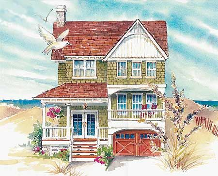 24 best images about beach house plans on pinterest for Florida house plans for narrow lots