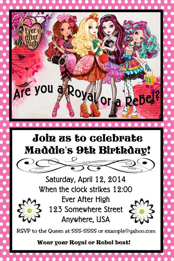 27 best Ever After High Party images on Pinterest | 21st birth, 50 ...
