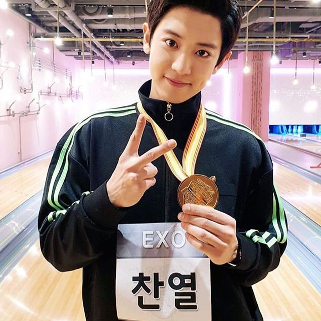 Haven T Been On Ig The Whole Day But Congratulations Real Pcy For Winning A Gold Medal On A Bowling Competition I M A Proud E Suami Chanyeol Baekhyun