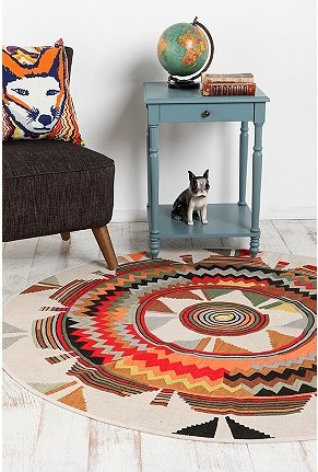 """I need all of this! UrbanOutfitters.com > 60"""" Round Sierra Medallion Rug"""