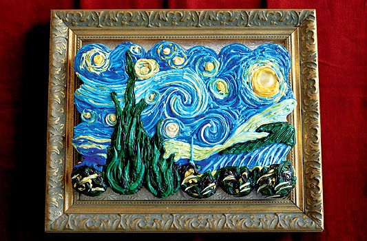 Van Gogh's Starry Night, in frosting, on cupcakes. If someone surprised me with this I would love them forever!
