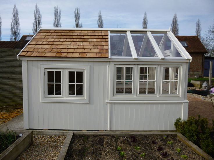 a bespoke shed with greenhousediy garden shed