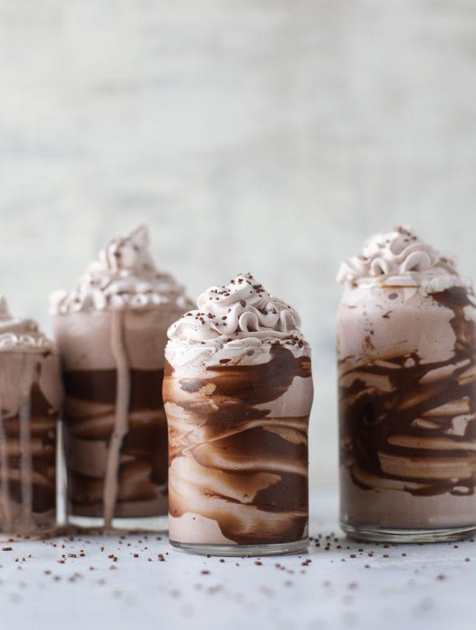 chocolate lovers coconut milkshakes from @howsweeteats