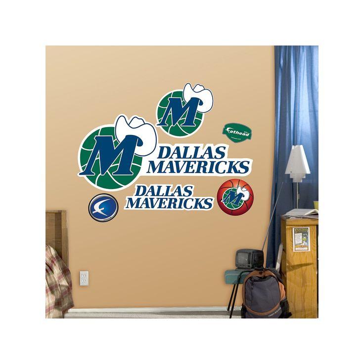 Fathead Dallas Mavericks Classic Logo Wall Decals, Multicolor