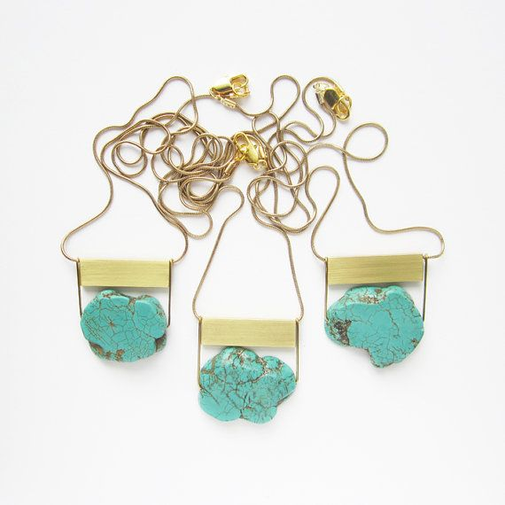NEW  Turquoise Howlite Gemstone necklace by sewasong on Etsy, €30.00