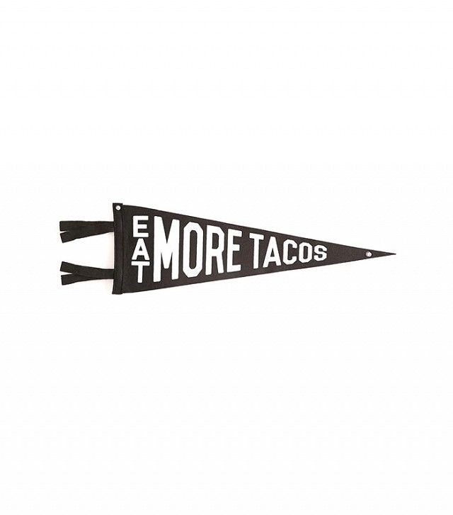 Urban Outfitters Eat More Tacos Pennant