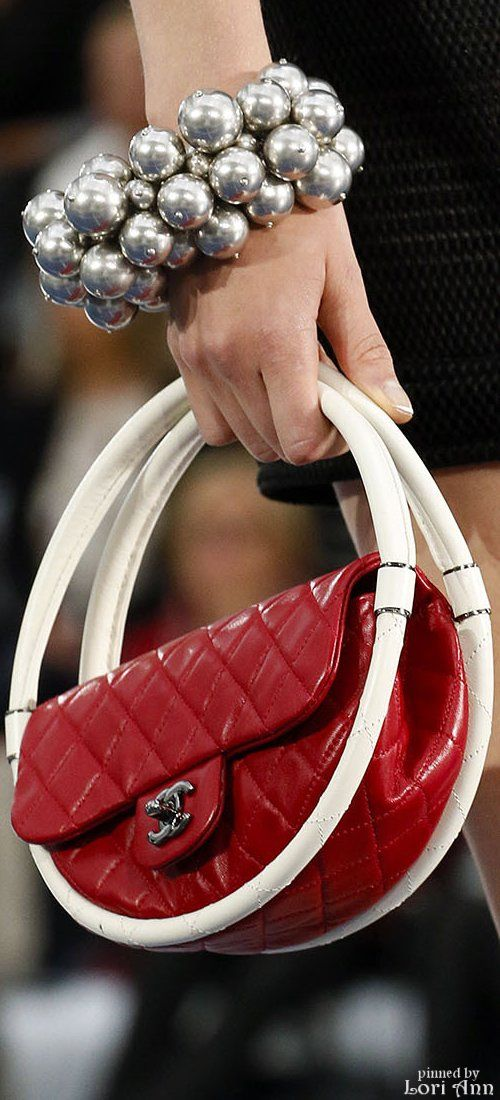 Chanel ~ Quilted Red Flap Bag, Spring 2013