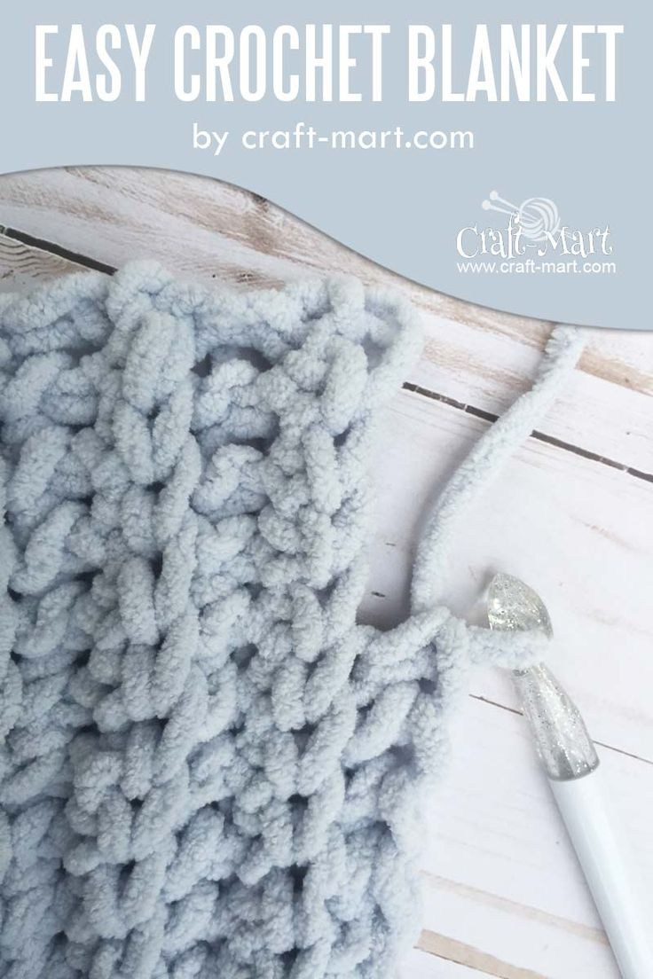 Simple and easy crochet blanket tutorial FREE Bernat