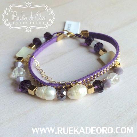 Pulsera New Glam  | Rueka de Oro Accesorios  www.ruekadeoro.com - Tienda online de accesorios para mujer #accesorios #aretes #collares #pulseras #bolsos #bisuteria #relojes #fashion #bogota #colombia