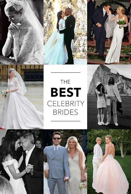 The most beautiful celebrity brides of all time kim for Places to donate wedding dresses