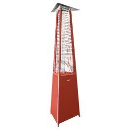 falo evo red gas patio heater by cvo fire