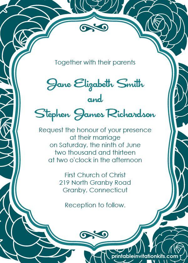 free wedding invitation printable templates