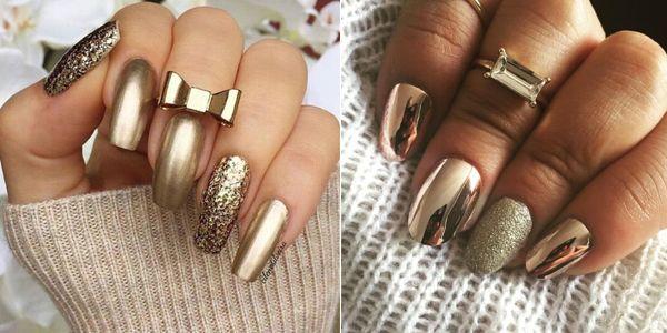 Χρυσά υπέροχα νύχια!