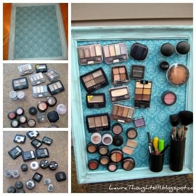 Tableau aimante pour maquillage
