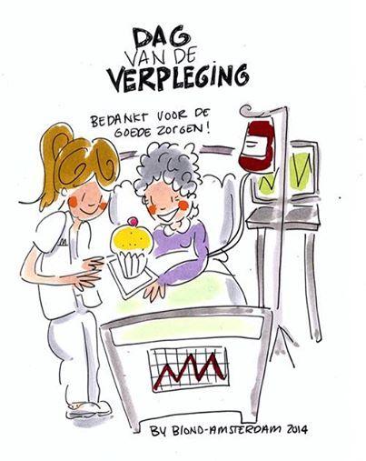 Blond Amsterdam dag van de verpleging
