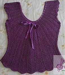Olá!!!   Trago estas belíssimas blusas para a sua inspiração!!!   Espero que gostem!!!   Bjs...     BLUSA ROXA         GRÁFICO DA BLUSA RO...