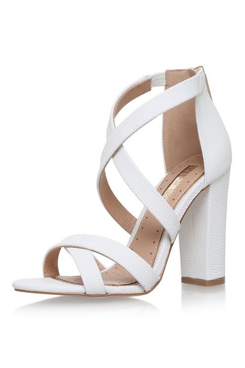 **FAUN White High Heel Sandals by Miss KG