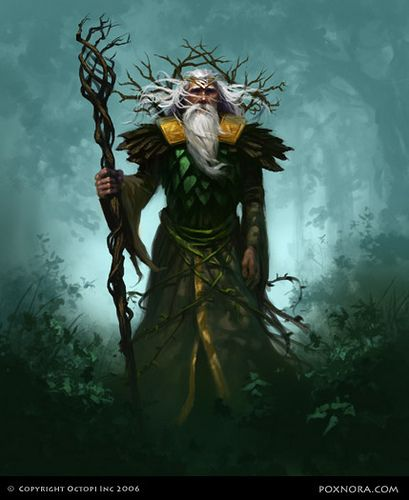 puzzlebird human druid wizard warlock sorcerer staff forest armor clothes clothing fashion player character npc | Create your own roleplaying game material w/ RPG Bard: www.rpgbard.com | Writing inspiration for Dungeons and Dragons DND D&D Pathfinder PFRPG Warhammer 40k Star Wars Shadowrun Call of Cthulhu Lord of the Rings LoTR + d20 fantasy science fiction scifi horror design | Not Trusty Sword art: click artwork for source