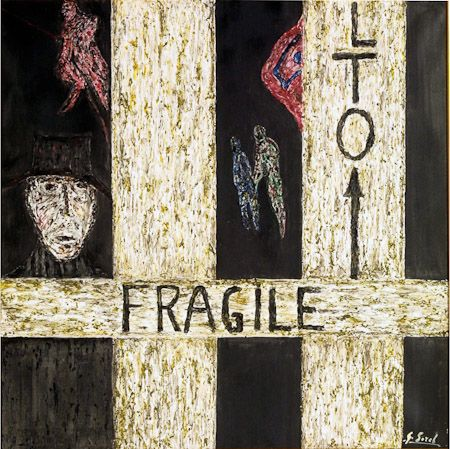 The artist is fragile, 1998, enamel, synthetic wax fusion on canvas 60x80 cm