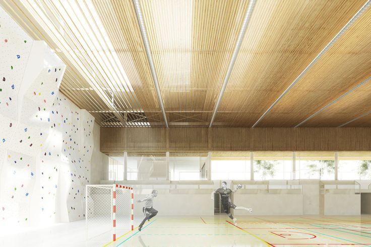 gymnase et salle polyvalente - atelierpng architecture - AJAP 2014 - Europe 40 Under 40 2014