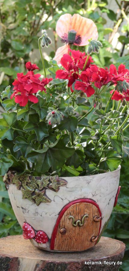 Pflanzhaus und Blumentopf aus dem Wichtelgarten - Fairygarden