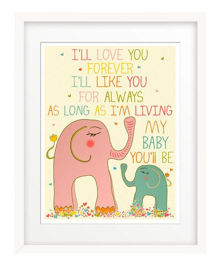 Pink 'I'll Love You Forever' Giclée Print