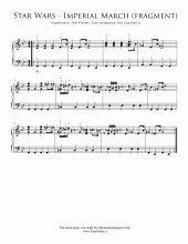 Star Wars: Imperial March (easy version)   Noty pro klavír a akordeon