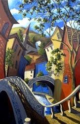 Cobblestone passage, by Miguel Freitas