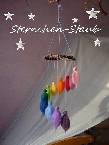 Feenreigen, zart schwirrendes  Elfen Mobile von ☆Sternchen-Staub☆ auf DaWanda.com