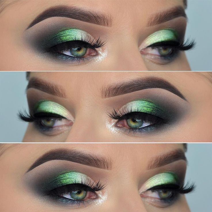 Green matte eyeshadow look