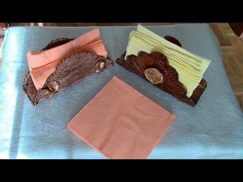 Servilleteros de papel reciclado recycled paper napkin - Youtube manualidades de papel ...