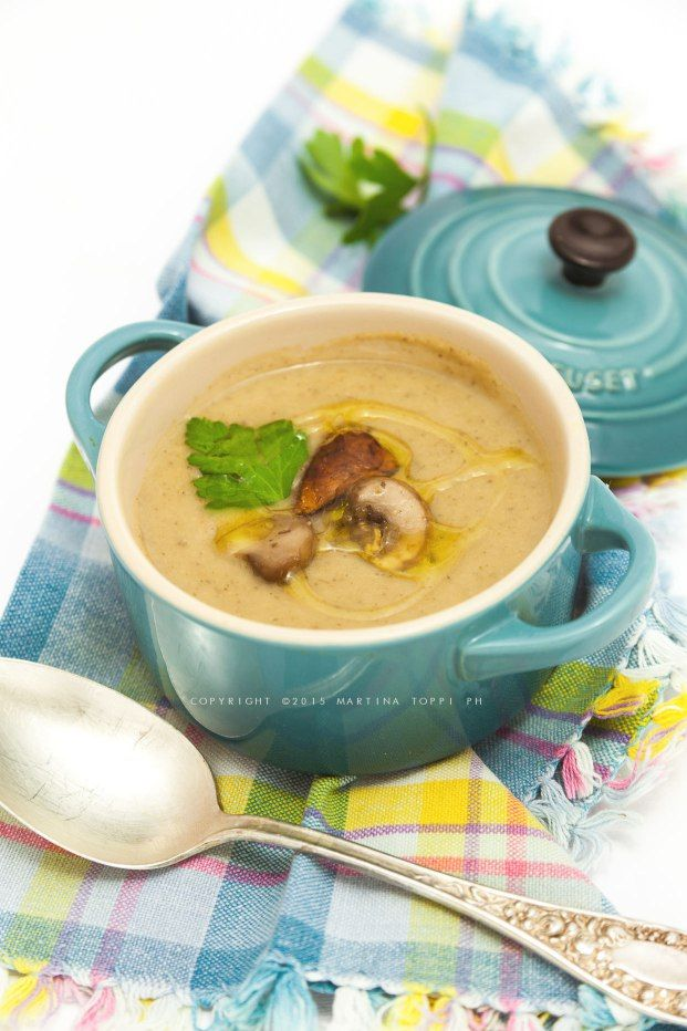 Crema di funghi e patate #comfortfood #LCreusetItalia #CocotteLeCreuset