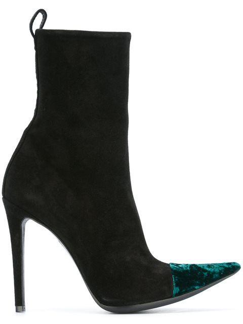 HAIDER ACKERMANN crushed velvet ankle boots. #haiderackermann #shoes #boots