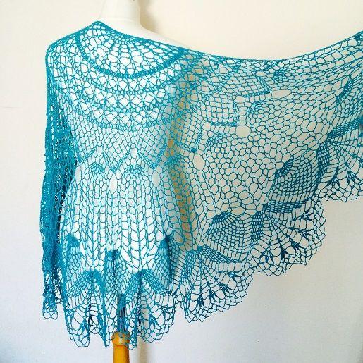 Crochet Pattern Half Circle Shawl : Crochet lace shawl, half circle shape. h?keln ...