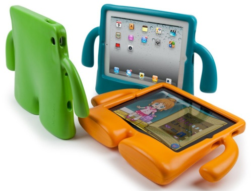 No more sticky fingers on the iPad - great gift for techie kids :)Ideas, Gadgets, For Kids, Ipad Cases, Ipad Accessories, Ipad Mini, Ipad Covers, Speck Iguy, Products