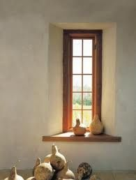 Straw bale house window