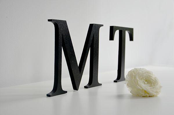 Litery    |   projekt, wykonanie, zdjęcie: minwedding