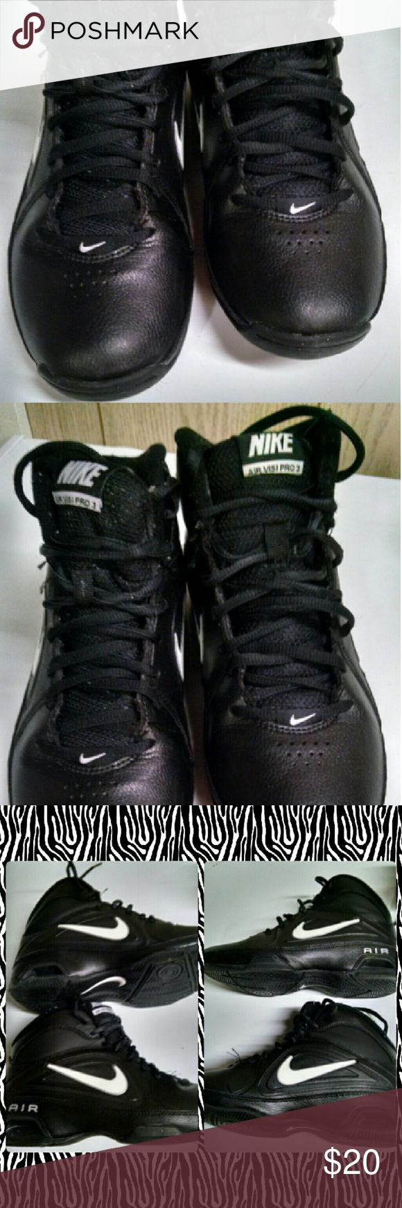 Nike Visi Pro 3 Ladies High Tops Size 7. True to size. Light wear on toes see Picts. Still lots of life left and an excellent basketball shoe!! Nike Shoes Athletic Shoes