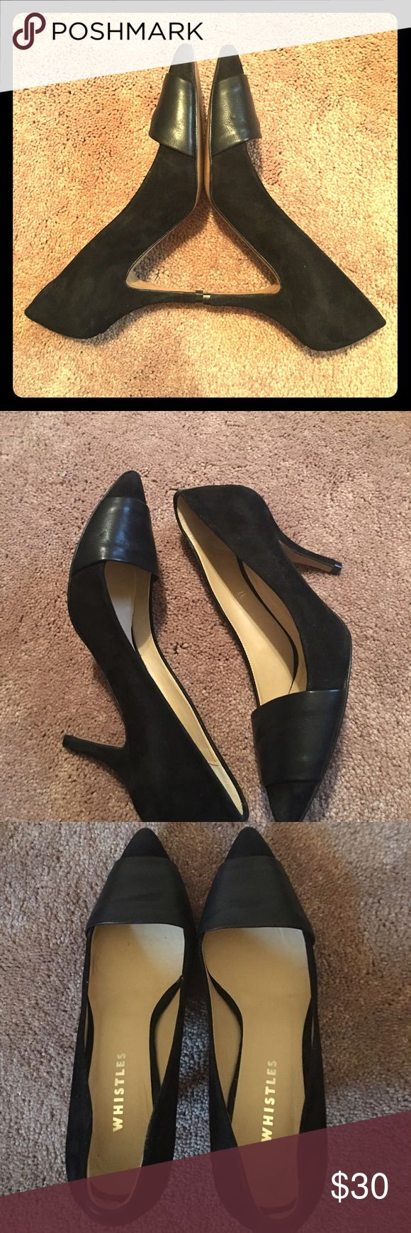 Must have heels Gorgeous suede and leather 3 inch heels...great condition Whistles Shoes Heels