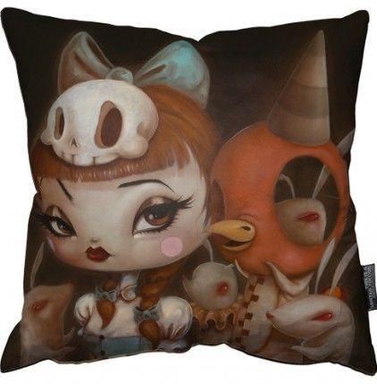 Brandt Peters & Kathie Olivas 'Miss Content' Limited Edition Art Pillow #brandtpeters #circusposterus