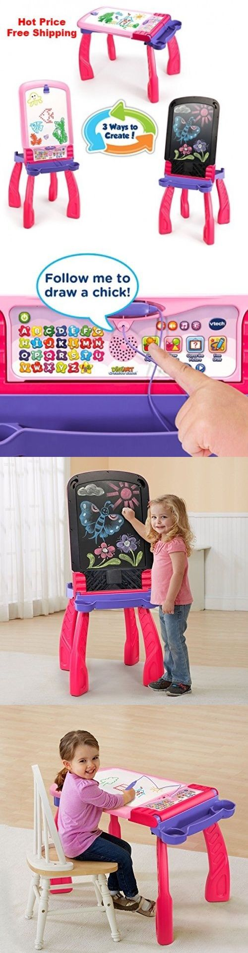 Learning Systems 158695: Easel Digiart Creative Vtech Free Packaging Frustration New Pink Regular Table -> BUY IT NOW ONLY: $34.58 on eBay!