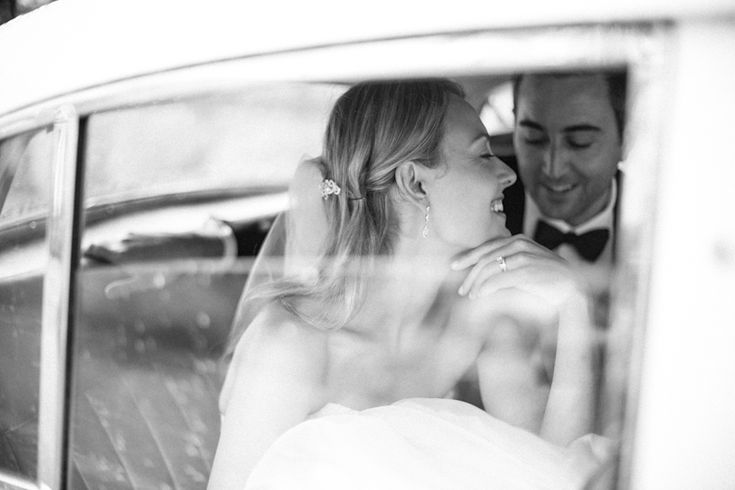 Inn on the Twenty bride and groom in vintage car